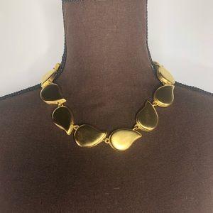 GIVENCHY Vintage Gold Tone Teardrop Necklace